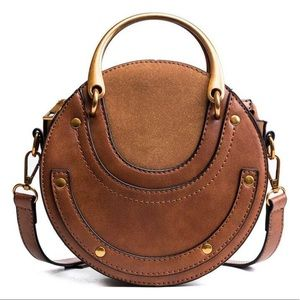 Handbags - 2/$35 — Brown and Gold/Bronze Crossbody Bag
